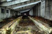 HDR.Lost city. Near Chernobyl area. Modern ruins. Ukraine. Kiev region