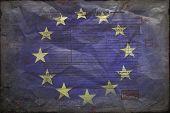 Fahne der Europäischen Union mit Post stamps.grange