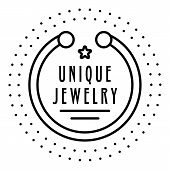 Unique Bracelet Jewelry Logo. Outline Unique Bracelet Jewelry Logo For Web Design Isolated On White  poster