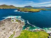 Beautiful View Of Valentia Island Lighthouse At Cromwell Point. Locations Worth Visiting On The Wild poster