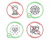Do Or Stop. Heartbeat, Artificial Intelligence And Winner Icons Simple Set. Presentation Board Sign. poster