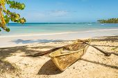 Travel Vacation Tropical Destination. Sandy Beach Landscape. Travel Vacations Destination. Travel Co poster