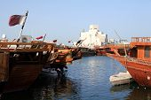 Doha Islamic Museum Behind Dhows