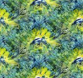 Seamless Tie-dye Pattern Of Green And Yellow Color On White Silk. Hand Painting Fabrics - Nodular Ba poster