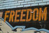 Freedom Graffiti Sign