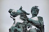 foto of bohdan  - Monument of famous Ukranian Hethman Bogdan Khmelnitsky at winter in Kiev - JPG