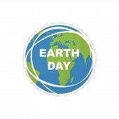 Earth Day. Land Map. Illustration Happy Earth Day. Flat Style. Vector poster