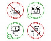 Do Or Stop. Best Manager, Payment Click And Bumper Cars Icons Simple Set. Messages Sign. Best Develo poster