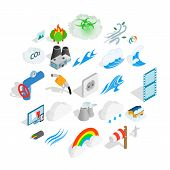 Intensity Icons Set. Isometric Set Of 25 Intensity Icons For Web Isolated On White Background poster