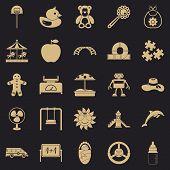 Children Spontaneity Icons Set. Simple Set Of 25 Children Spontaneity Icons For Web For Any Design poster