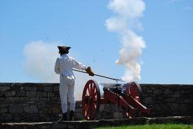 stock photo of ticonderoga  - Canon ceremony at Fort Ticonderoga - JPG
