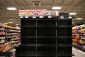 BOISE, ID - NOV 16:Ã??Ã?? Hostess products disappear from shelves after Hostess Brands Inc. announced it filed a motion with the U.S. Bankruptcy Court to close its business. November 16, 2012 in Boise, ID.