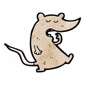 cartoon yawning mouse