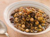 Rabo de boi e grão de bico sopa de Inverno