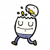boiled egg cartoon character
