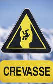 Danger Sign For Snow-Sports