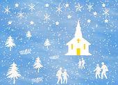 Winter Scene With Church