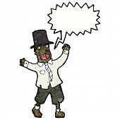 homem vagabundo louco de desenhos animados