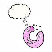 bitten doughnut cartoon