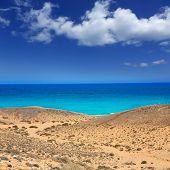 pic of papagayo  - Lanzarote south Punta Papagayo sea in Canary Islands - JPG