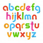 Alphabet letters. Vector.