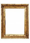Weathered Golden Picture Frame W/ Path