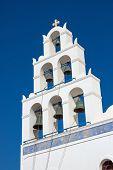Belltower of a church in Oia