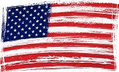 stock photo of usa flag  - USA national flag created in grunge style - JPG
