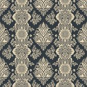 Vintage background. Floral pattern. Retro Wallpaper. High Detail. Luxury.