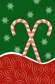 Candy Canes And Snowflakes