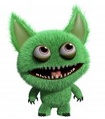 pic of gremlins  - 3 d cartoon cute green gremlin monster - JPG