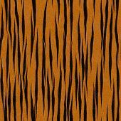 Faux Orange & Black Tiger Stripe Background