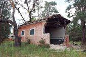-Posto base militar abandonada perto da área de Chernobyl alienação.Ucrânia, centro de comunicação de rádio