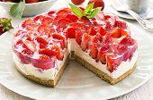 foto of pie-in-face  - strawberry pie - JPG