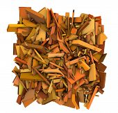 3D Shape Fragmented Pattern Orange Backdrop