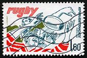 Postage Stamp France 1982 Rugby, Team Sport