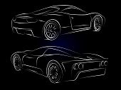 Sportcars Outline Set2