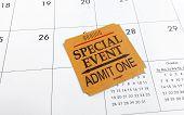 Ticket And Calendar
