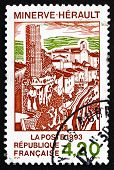 Postage Stamp France 1993 Village Of Minerve, Herault