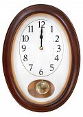 Midnight On Oval Wall Clock