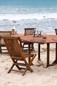 Table Set At Beach