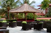 stock photo of bine  - The outdoor coffee bar at resort bali - JPG