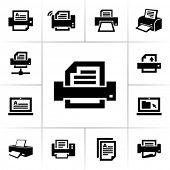 Iconos de la impresora