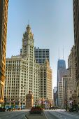 Chicago Downtown With The Wrigley Building