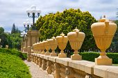 Row Of Tall Urns At Stanford University