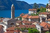 foto of italian alps  - Landscapes around famous lake Como in northern Italy - JPG