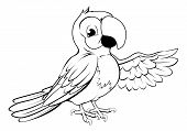 Happy Cartoon Parrot