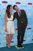 LOS ANGELES - AUG 11:  Lucy Hale, Darren Criss at the 2013 Teen Choice Awards at the Gibson Ampithea