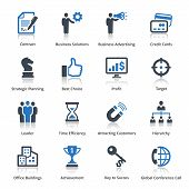 stock photo of hierarchy  - This set contains 16 business icons that can be used for designing and developing websites - JPG