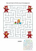 foto of playground school  - Maze game or activity page for kids - JPG